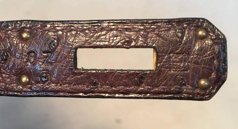 STUNNING Hermes Brown Ostrich 30cm Birkin Bag For Sale 4