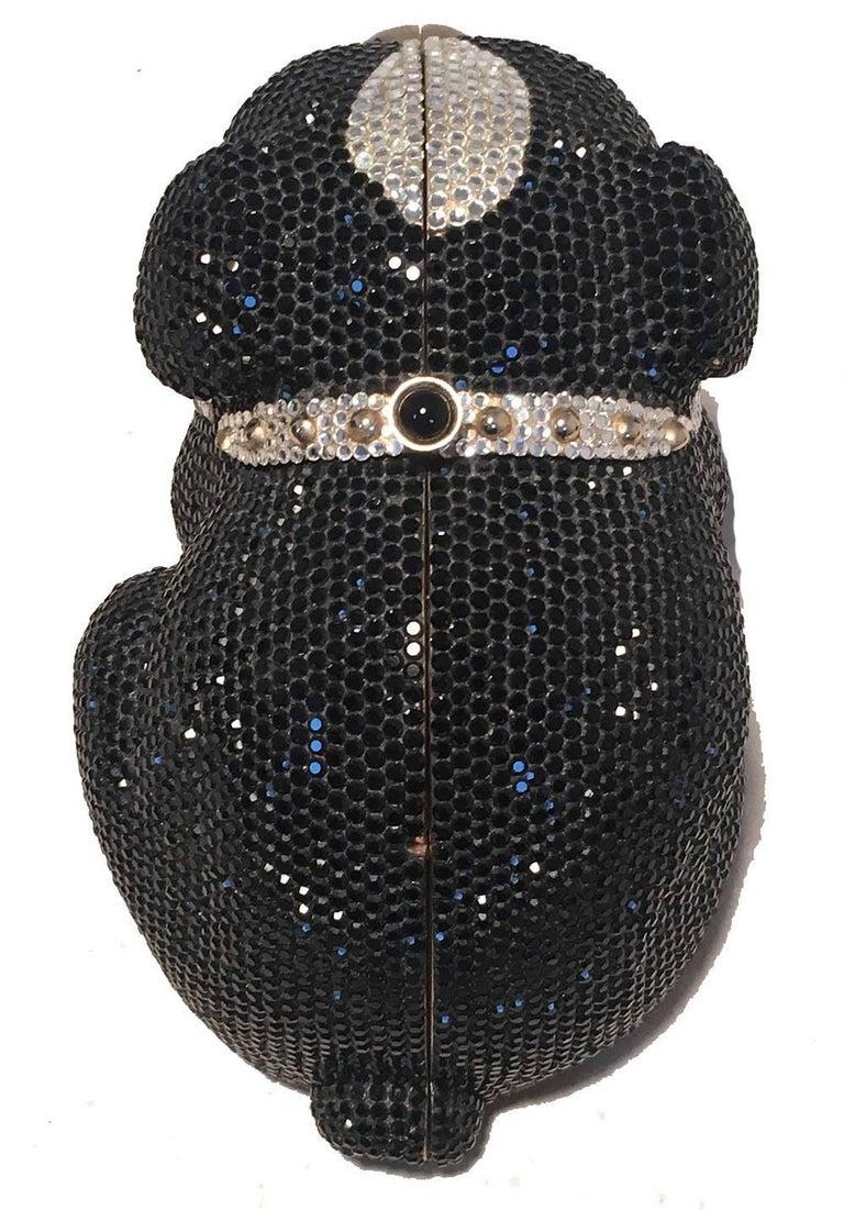 Judith Leiber Swarovski Crystal Bulldog Minaudiere Evening Bag For Sale 2