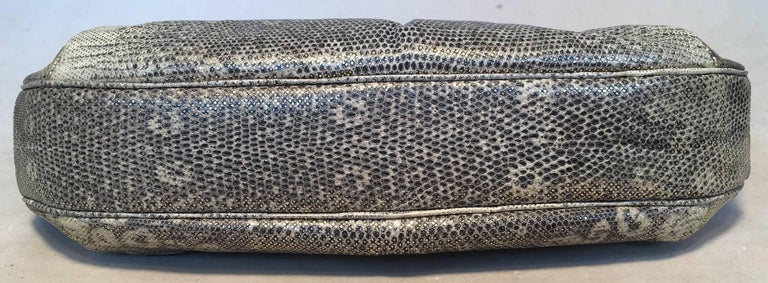 Women's Judith Leiber Gold and Natural Gray Ring Lizard Clutch For Sale
