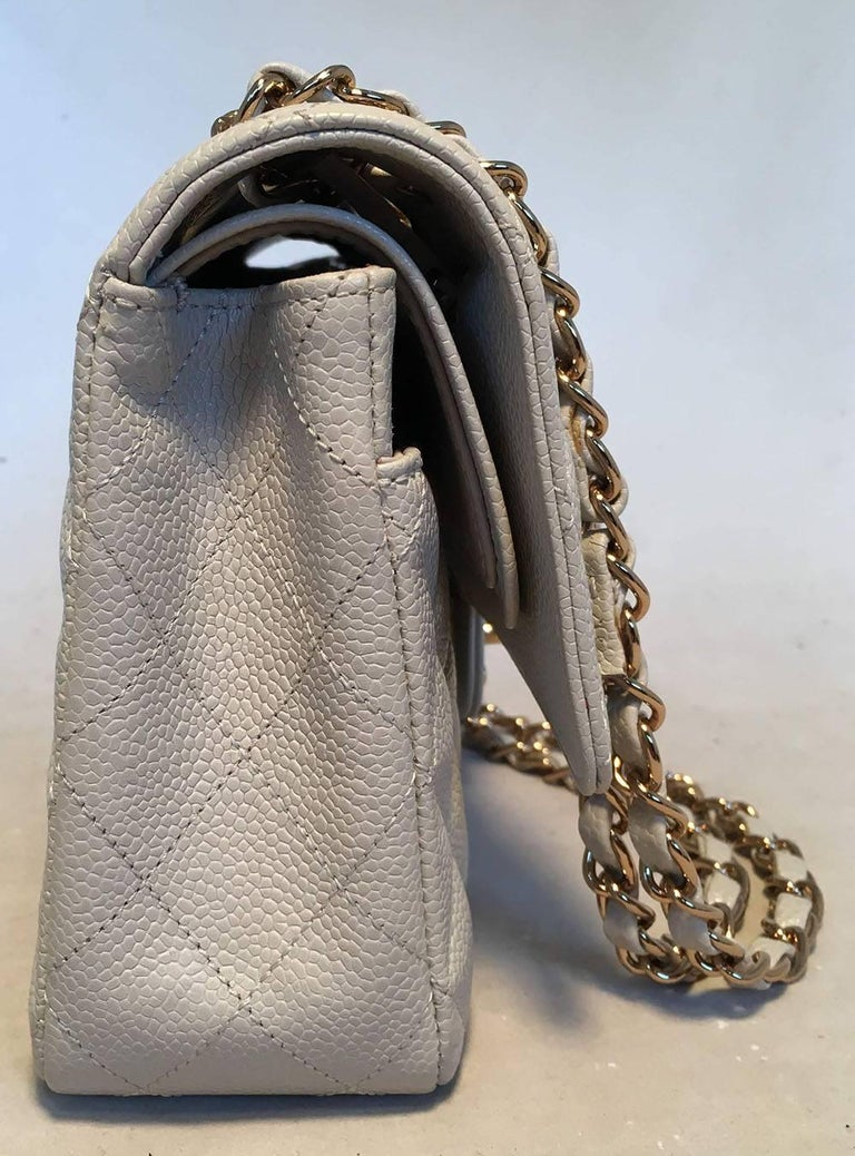 9c5453296f038a AMAZING Chanel Gray Caviar 10inch 2.55 Double Flap Classic Shoulder Bag in  excellent condition. Light