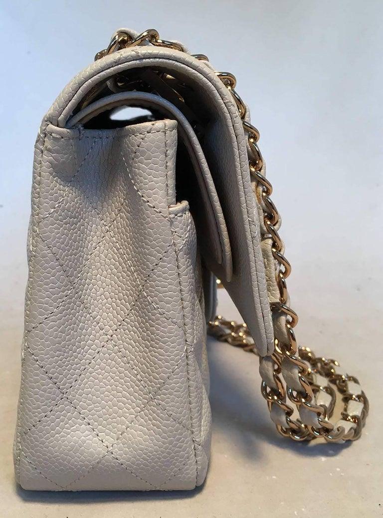 e66a7d1fec1519 AMAZING Chanel Gray Caviar 10inch 2.55 Double Flap Classic Shoulder Bag in  excellent condition. Light