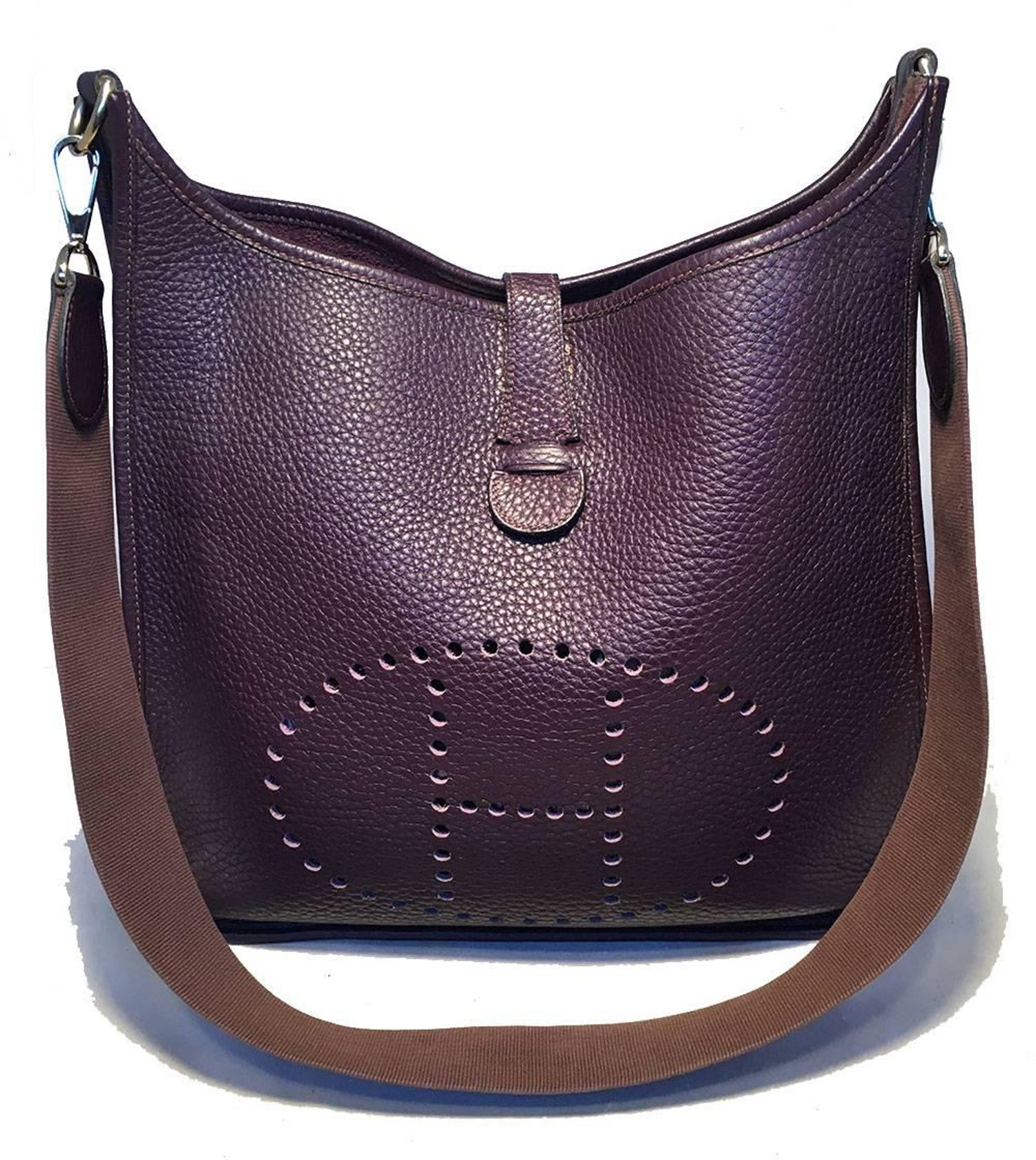Hermes Raisin Purple Evelyne GM III Clemence Leather Shoulder Bag at 1stdibs 9fafb52a6d