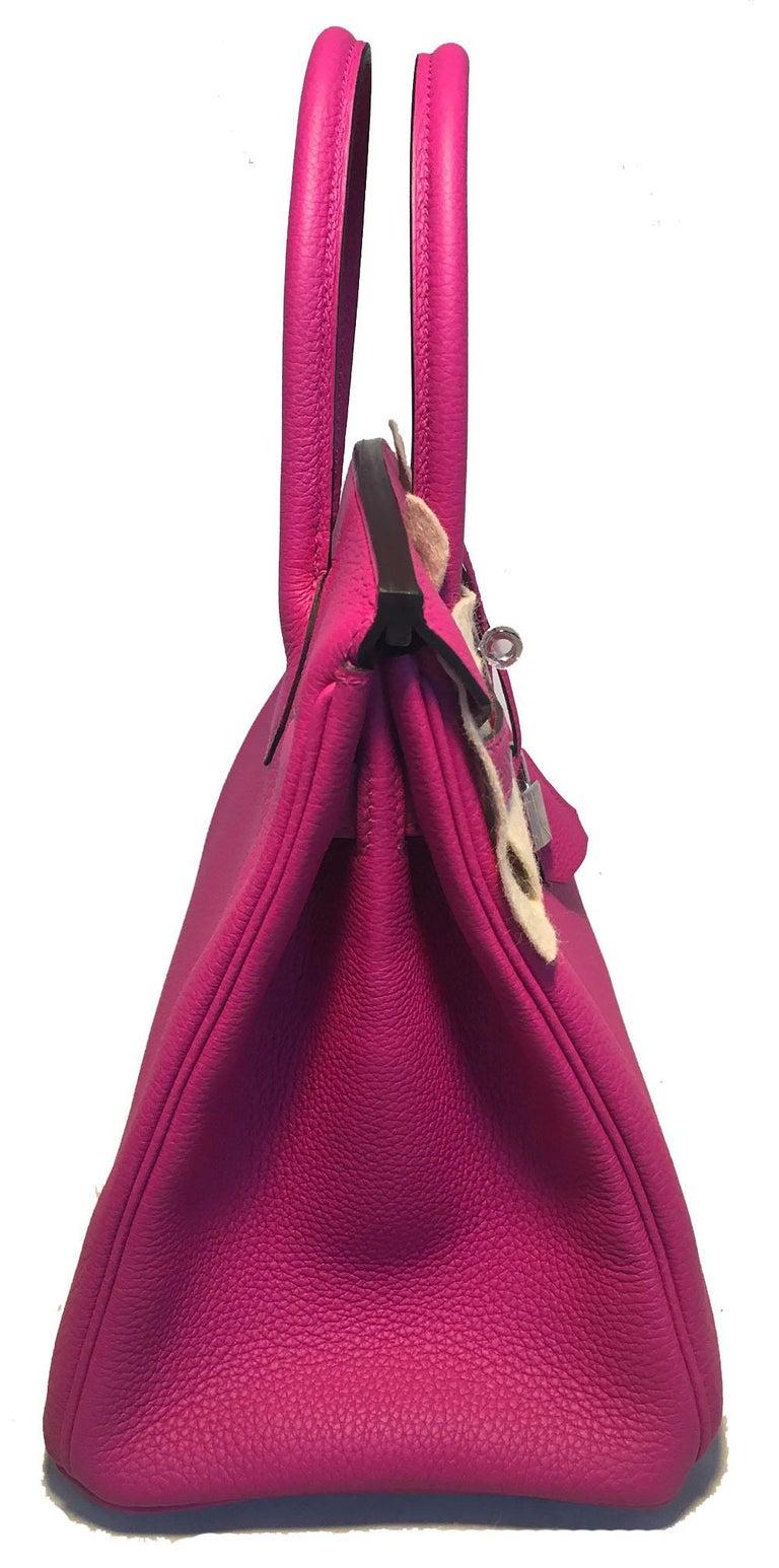 34e27ae56bdd3 NEW HERMES Rose Pourpre Togo PHW 30cm Birkin Bag 2018 For Sale at ...