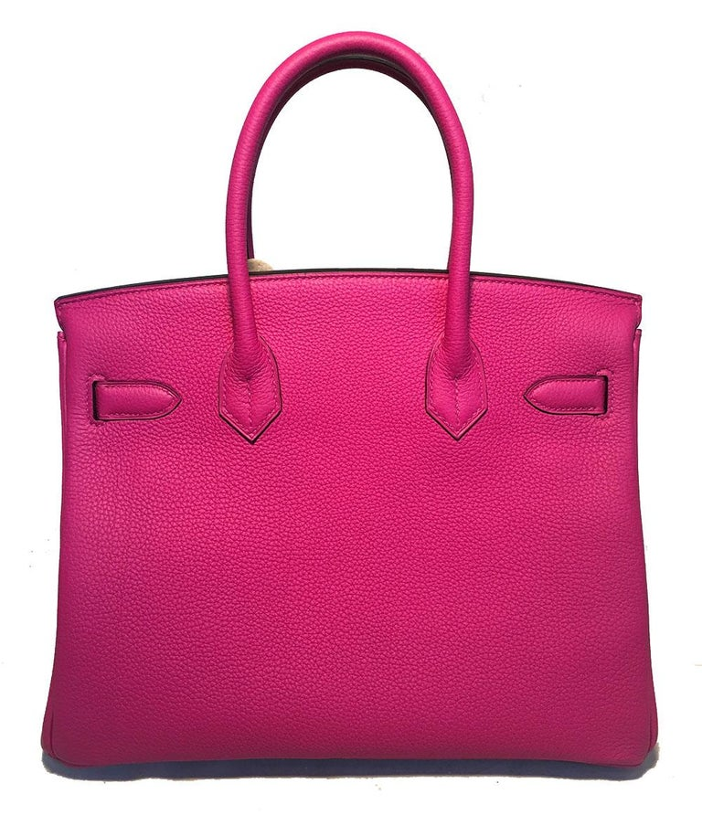 a440438f4c7d3 NEW HERMES Rose Pourpre Togo PHW 30cm Birkin Bag 2018 In New Condition For Sale  In
