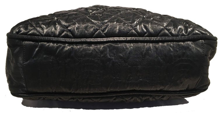 Women's Chanel Black Shimmery Soft Quilted Leather Tote Bag For Sale