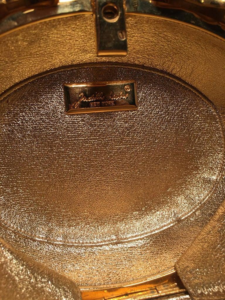 Judith Leiber Swarovski Crystal Oval Bow Trim Minaudiere Evening Bag Clutch For Sale 4