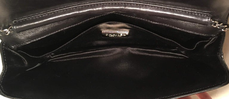 Chanel Quilted Black Leather Butterfly Classic Flap Shoulder Bag For Sale 3
