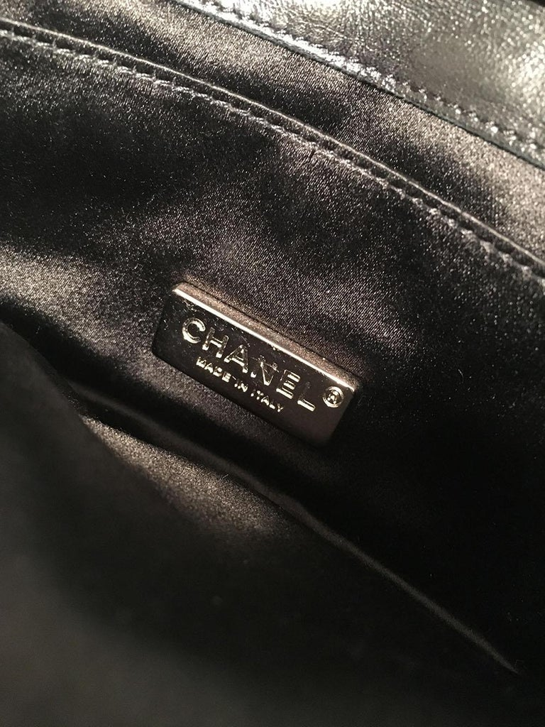 Chanel Quilted Black Leather Butterfly Classic Flap Shoulder Bag For Sale 4