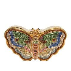 Judith Leiber Swarovski Crystal Butterfly Minaudiere