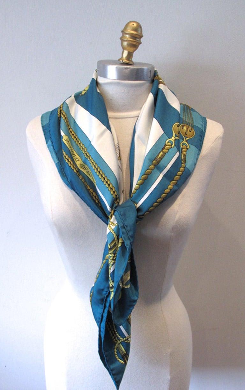 authentic hermes vintage chateaux d arriere silk scarf image 6