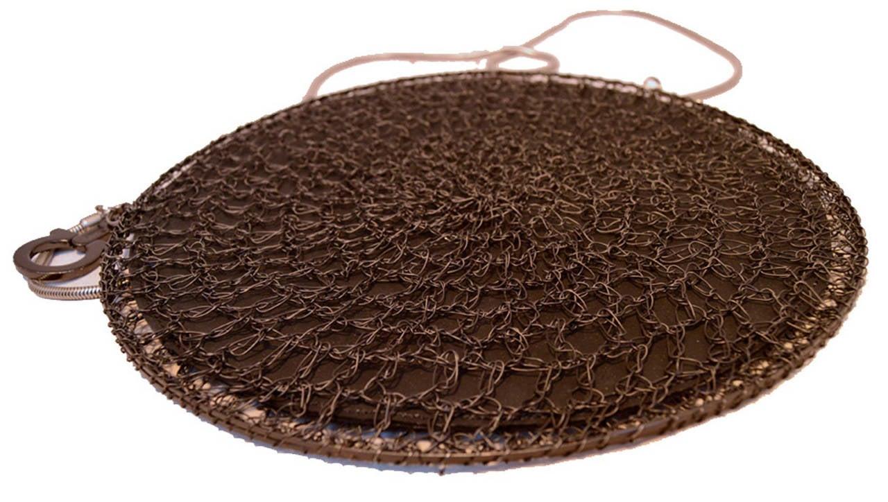 Salvatore Ferragamo Black Wire  Shoulder Bag RUNWAY For Sale 2
