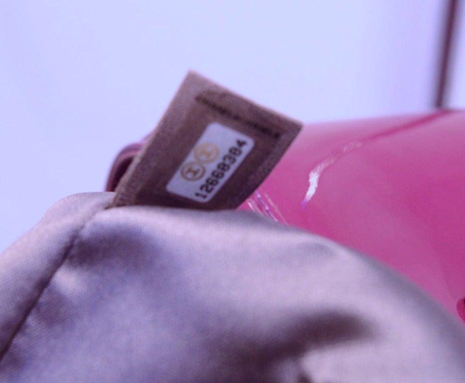 Chanel Purple Patent Leather Shoulder Bag Tote 7