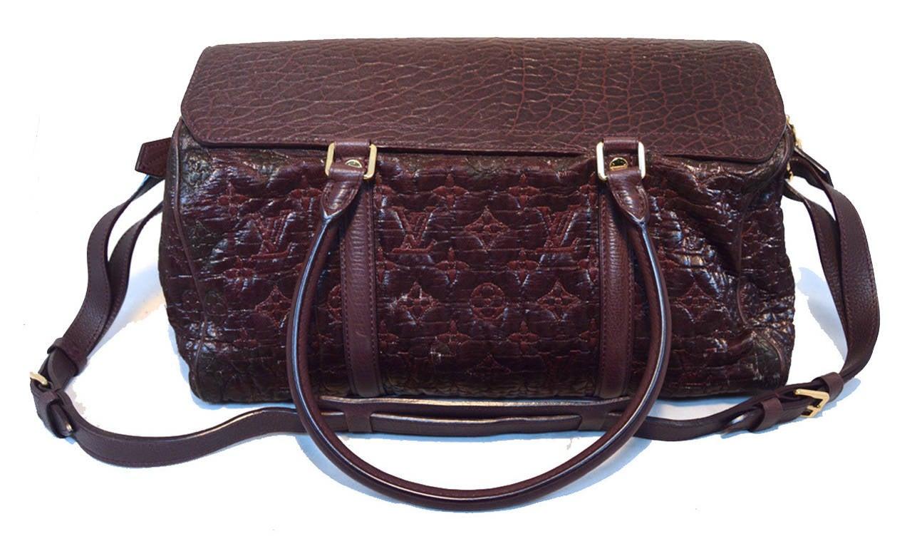 Black Louis Vuitton Limited Edition Monogram Volupte Bordeaux Psyche Bag For Sale