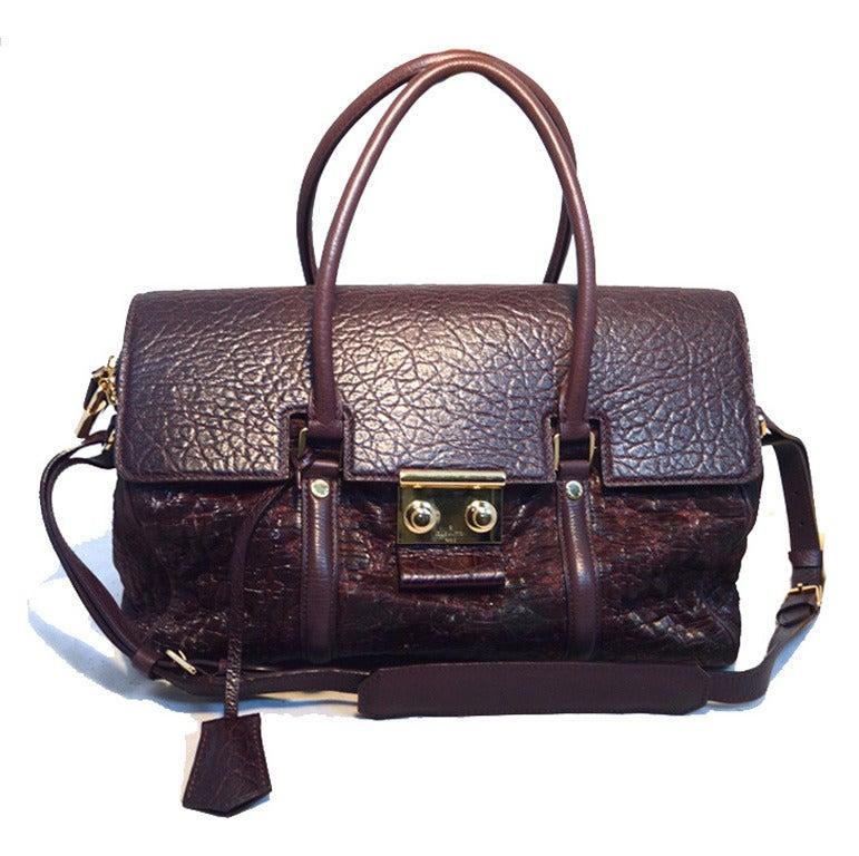 Louis Vuitton Limited Edition Monogram Volupte Bordeaux Psyche Bag For Sale 3