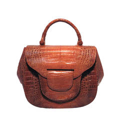 Nancy Gonzalez Brown Crocodile Handbag Nwt