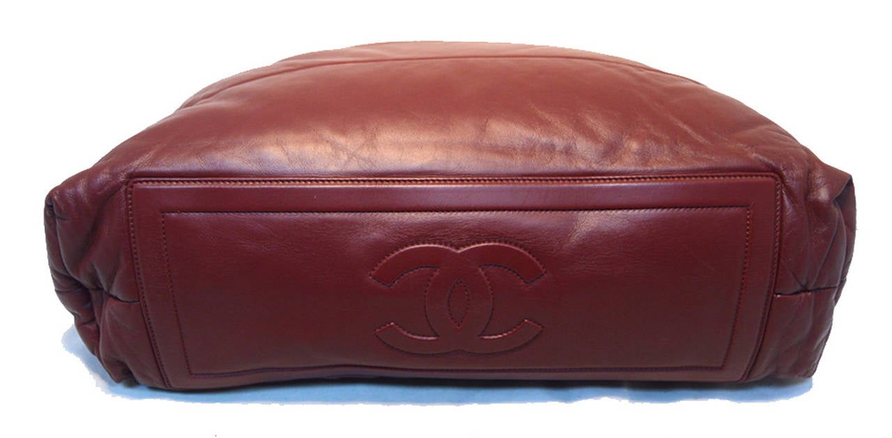 Chanel Burgundy Leather Cocoon Tote For Sale 1
