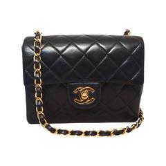 Chanel Black Leather Mini Classic Flap Shoulder Bag