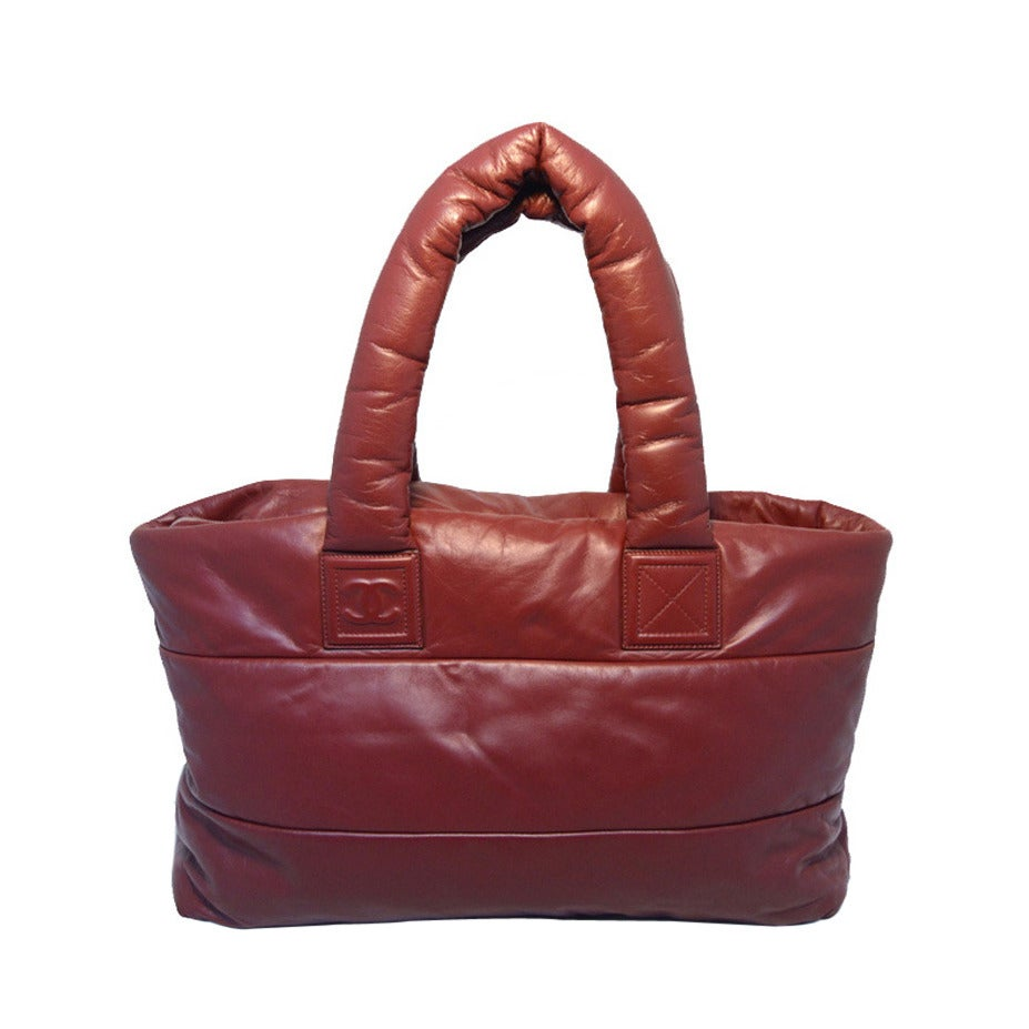 Chanel Burgundy Leather Cocoon Tote