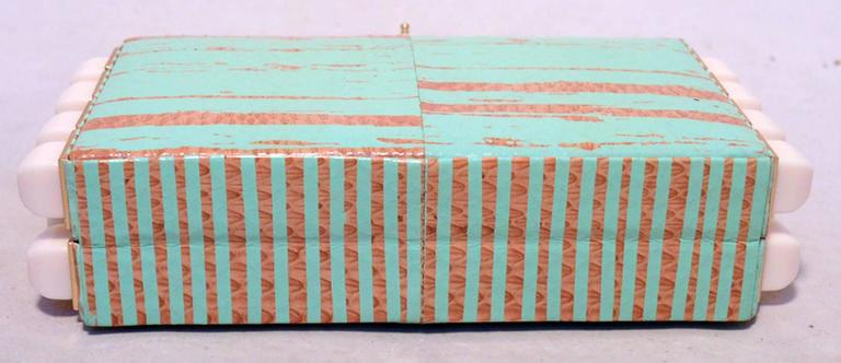 1stdibs Tanya Hawkes Teal And White Embellished Box Clutch JSR0nRVFAm