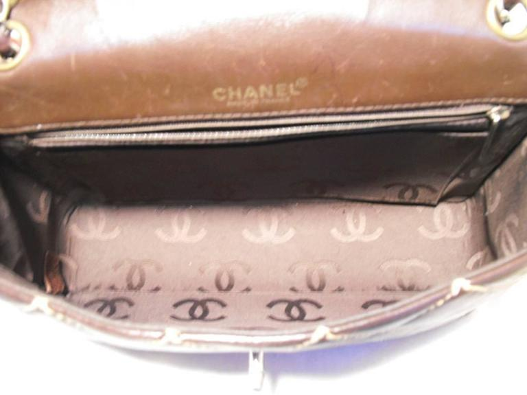 Women's Chanel Brown Leather Maxi Flap Topstitch Classic Shoulder Bag For Sale