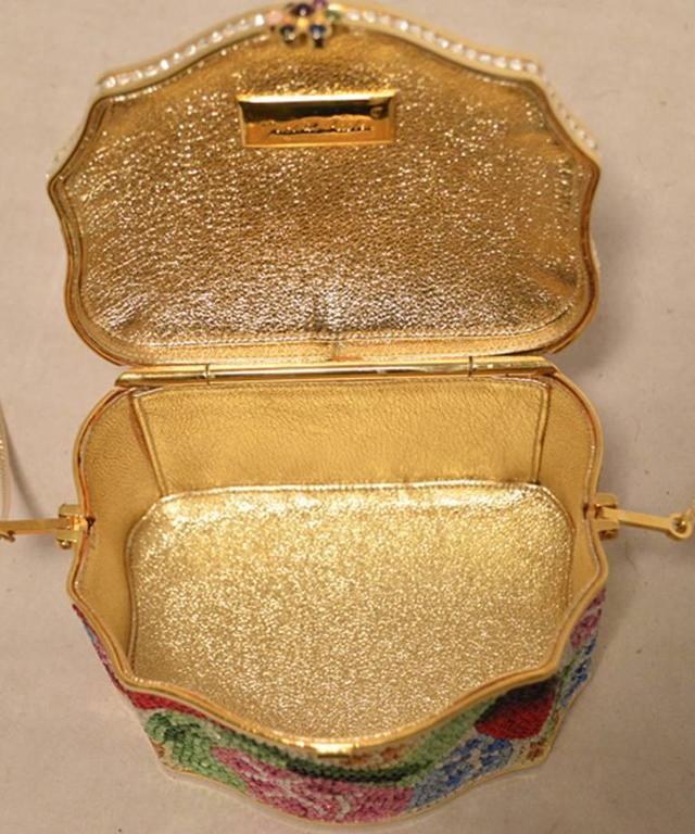 Judith Leiber Swarovski Crystal Floral Jewelry Box Minaudiere 5