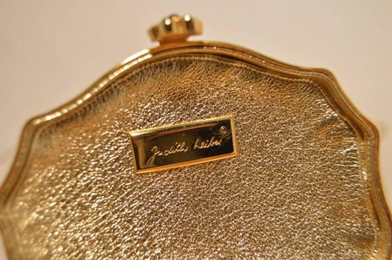 Judith Leiber Swarovski Crystal Floral Jewelry Box Minaudiere 7