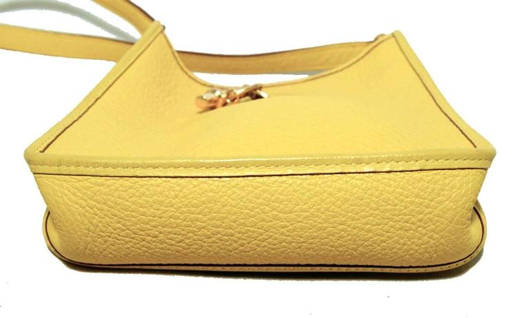 Rare Hermes Yellow Clemence Leather TPM Mini Vespa Shoulder Bag 8