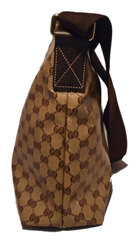 Brown Gucci Monogram Square Unisex Shoulder Bag  For Sale