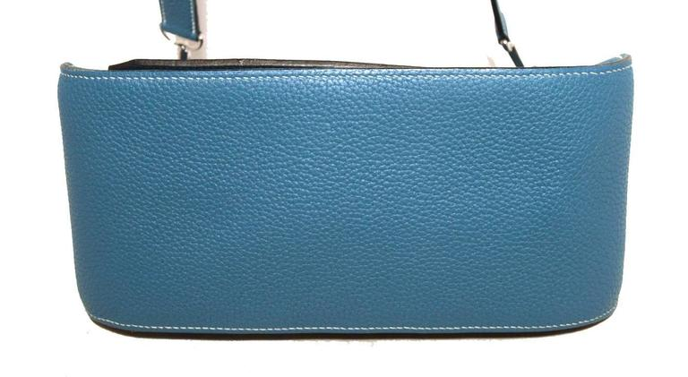 Hermes Blue Jean Clemence Leather Jypsiere 26 Shoulder Bag 4