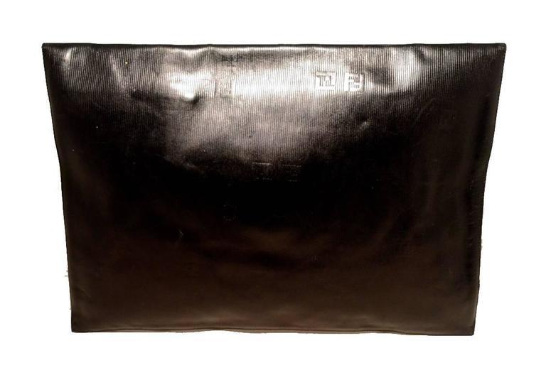 Fendi Fabulous Vintage Collectors Item Oversize Black Envelope Clutch  2