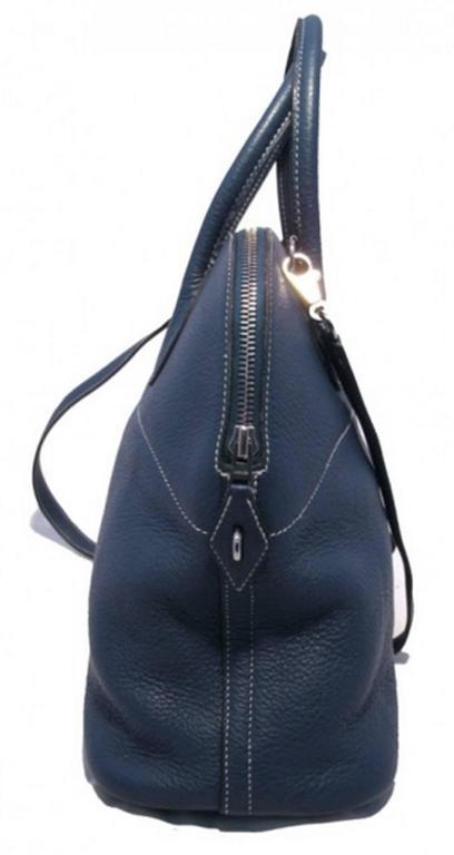 Purple Hermes Mykonos Clemence Bolide Bag and Shoulder Strap For Sale