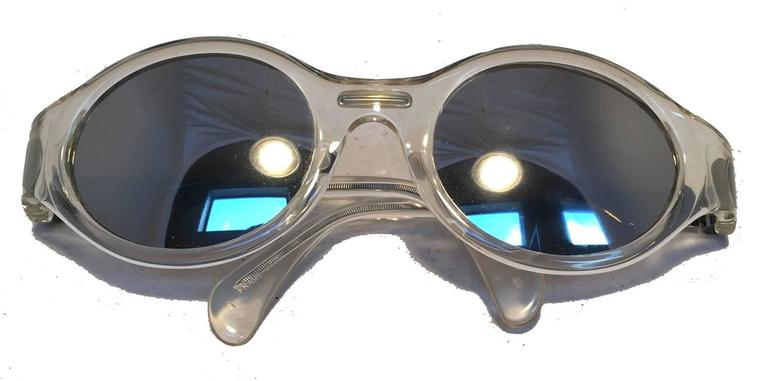 Jean Paul Gaultier Vintage Clear Framed Sunglasses 7