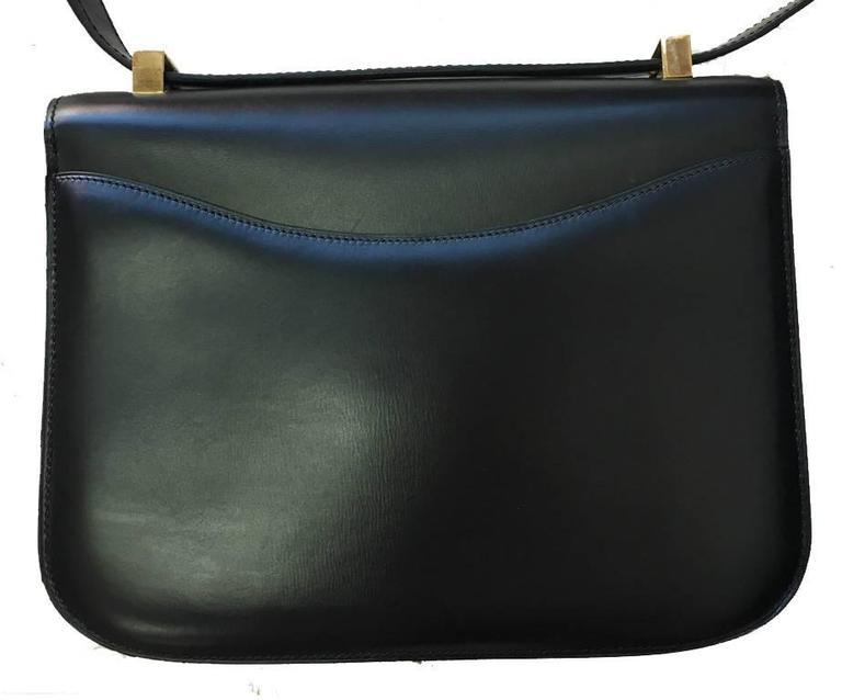 Hermes Vintage Black Leather Constance Shoulder Bag  2