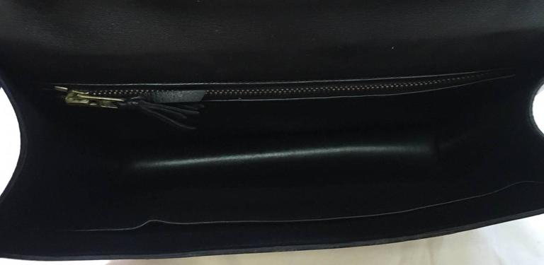 Hermes Vintage Black Leather Constance Shoulder Bag  5