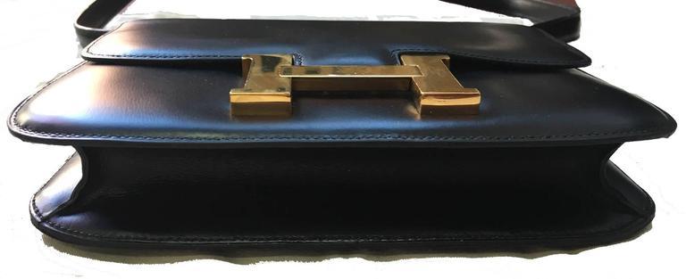 Hermes Vintage Black Leather Constance Shoulder Bag  4