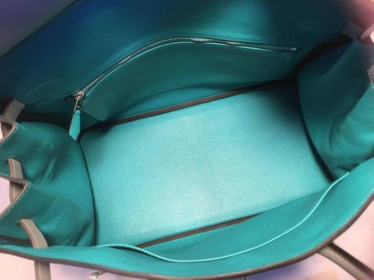Hermes Custom Made Grey 35cm Togo Birkin Bag, 2017  For Sale 3