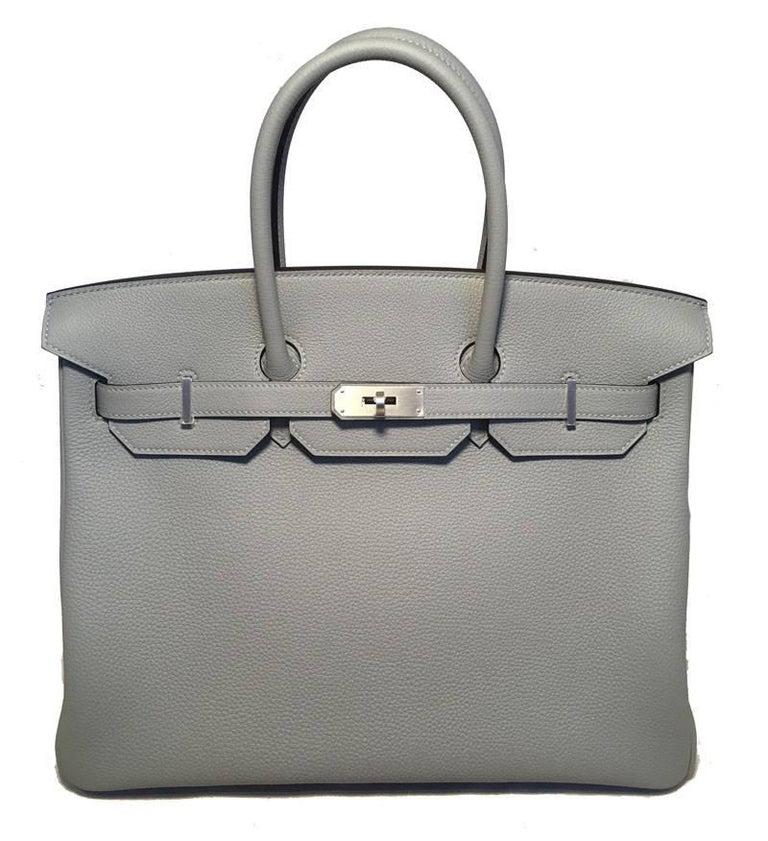 Hermes Custom Made Grey 35cm Togo Birkin Bag, 2017  For Sale 2