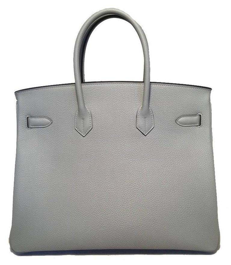 Hermes Custom Made Grey 35cm Togo Birkin Bag, 2017  In New Condition For Sale In Philadelphia, PA