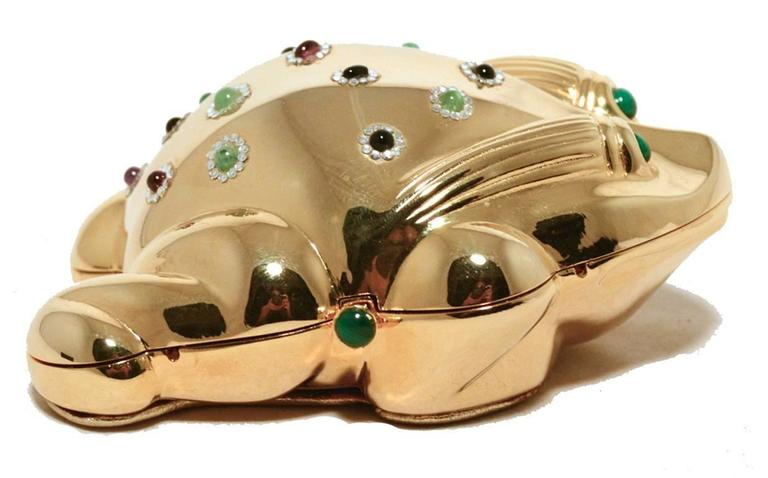 Judith Leiber Gold Frog Minaudiere 3