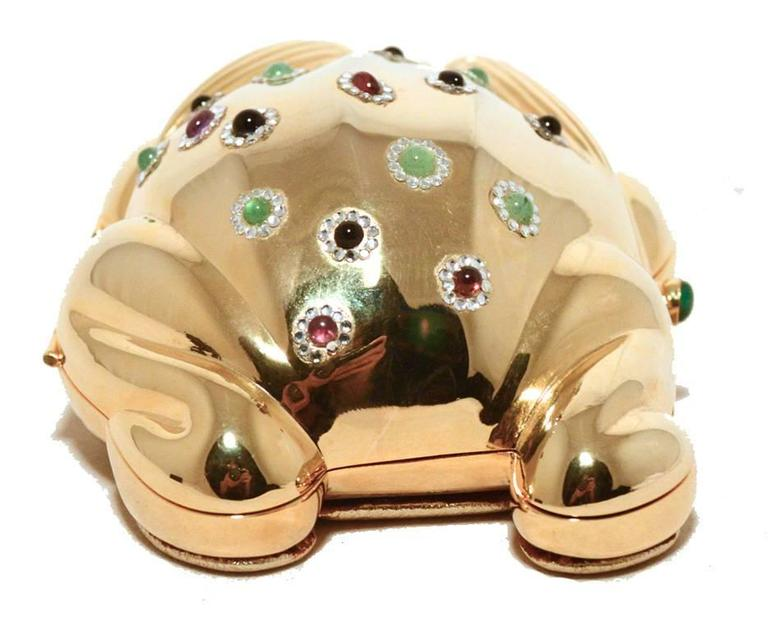 Judith Leiber Gold Frog Minaudiere 2