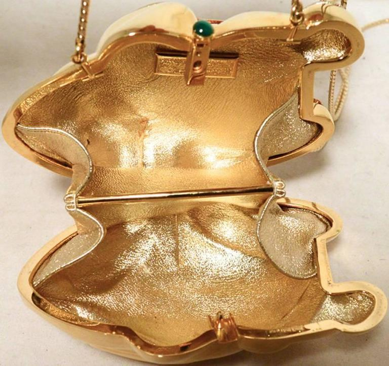 Judith Leiber Gold Frog Minaudiere 5