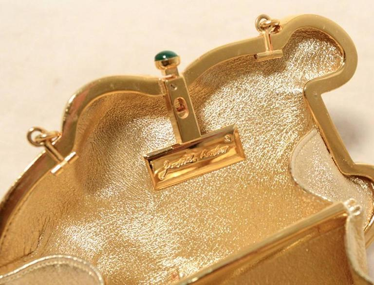 Judith Leiber Gold Frog Minaudiere 7