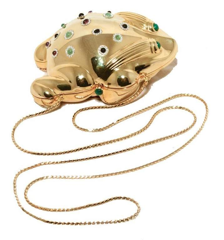Judith Leiber Gold Frog Minaudiere 6