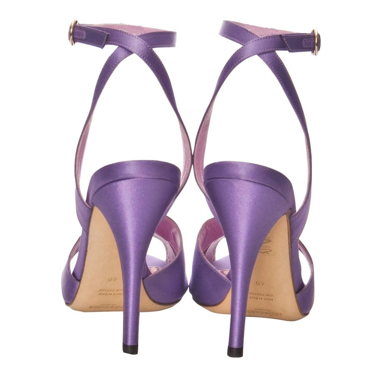 New Tom Ford for Yves Saint Laurent YSL Final Collection Satin Heels Sz 38.5 For Sale 1