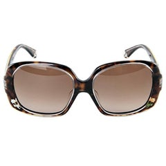 New Fendi Tortoise with Rose Inlaid Sunglasses With Case