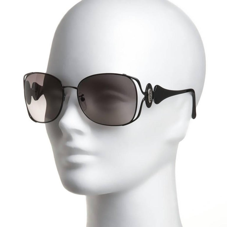 New Emilio Pucci Black Aviator Sunglasses With Case & Box For Sale 5