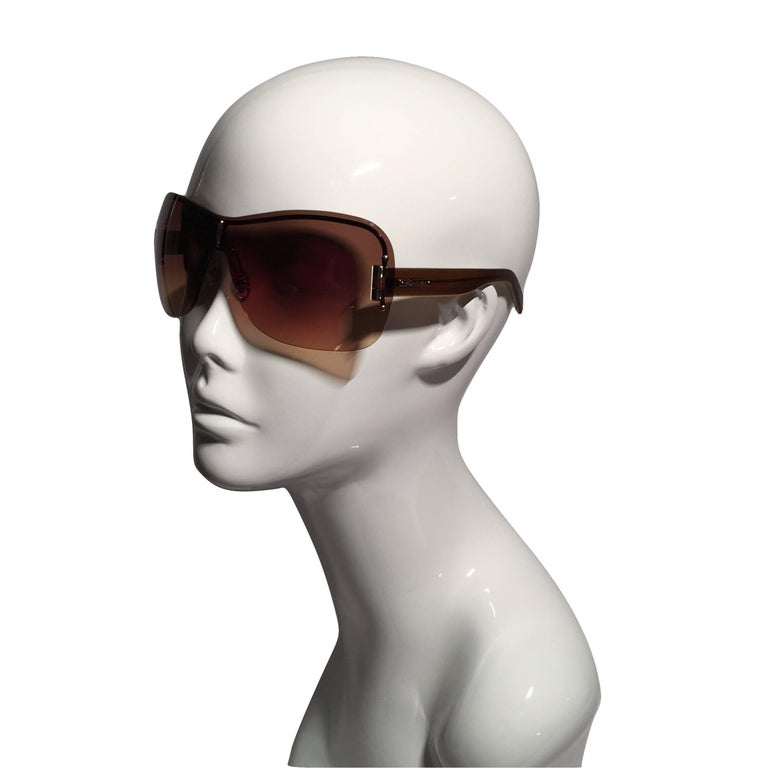 New Yves Saint Laurent YSL Wrap Sunglasses With Case For Sale 1