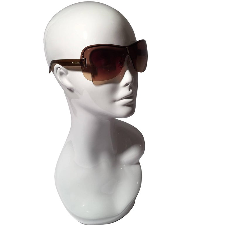 New Yves Saint Laurent YSL Wrap Sunglasses With Case For Sale 4