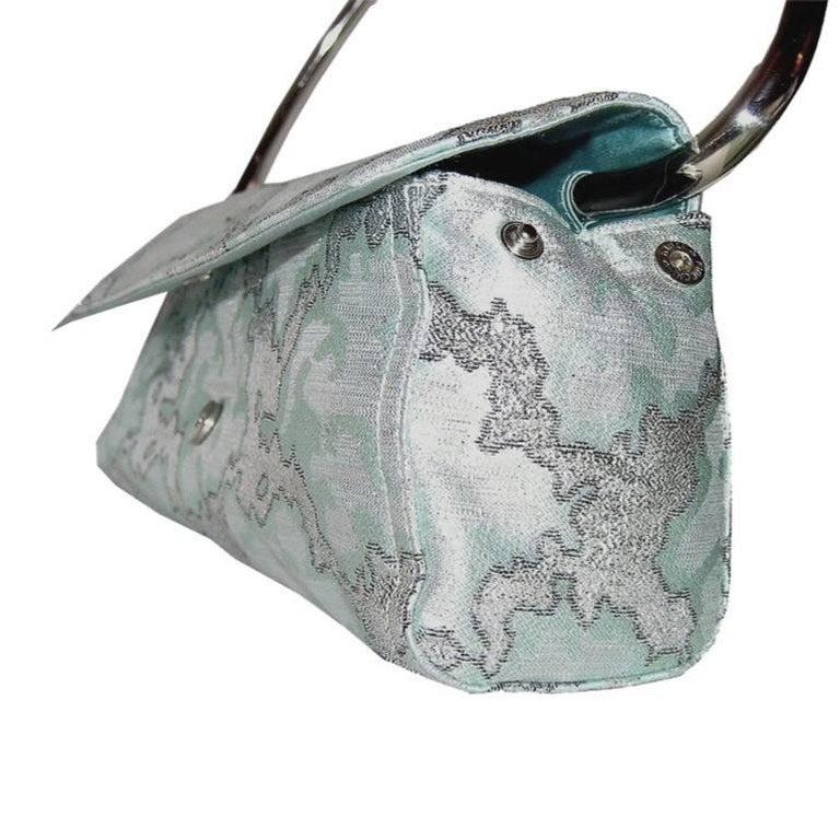Gray  New Rare Prada Limited Edition Lurex Swing Corset Bag For Sale