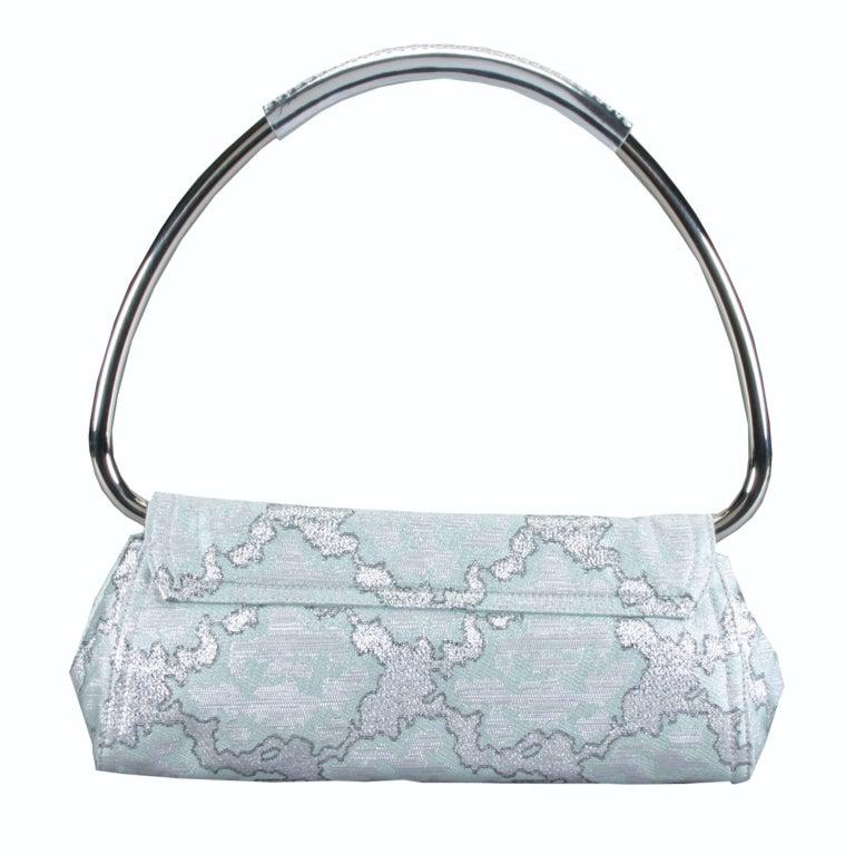 Women's  New Rare Prada Limited Edition Lurex Swing Corset Bag For Sale
